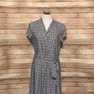 Liz Claiborne faux wrap dress